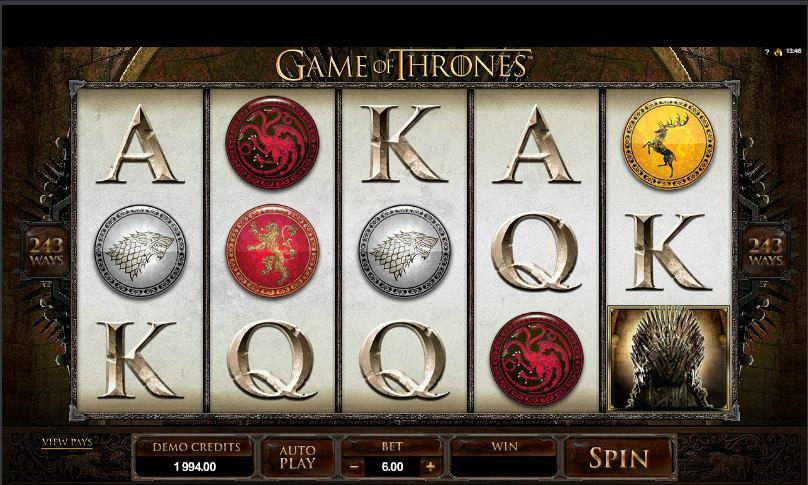Spilleautomater når nye højder med Game of Thrones