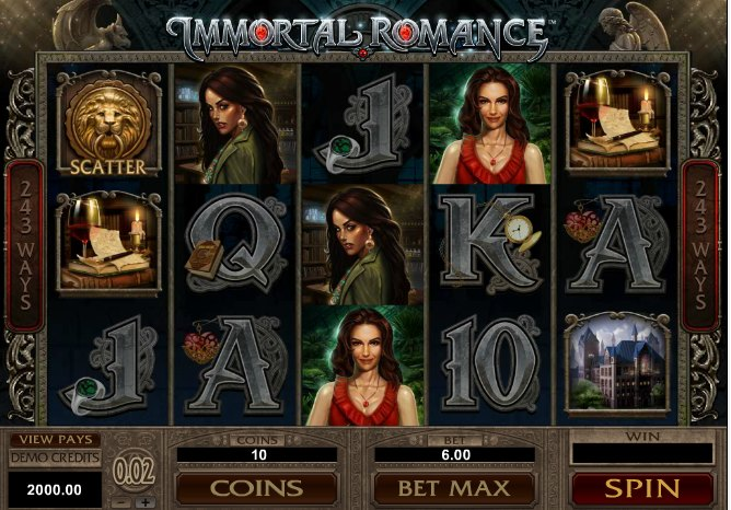 Immortal Romance – gratis spins i spandevis