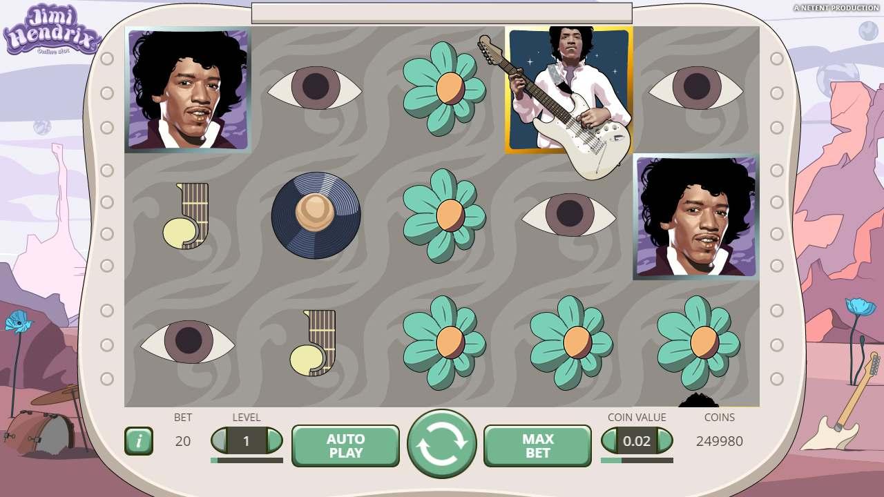 Jimi Hendrix – Purple Haze på spilleautomat online
