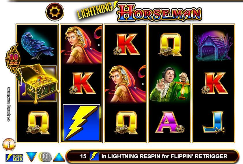 Den spooky Lighting Horseman slotautomat med stor jackpot