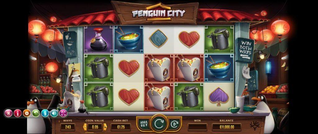 Vind på 243 forskellige måder i Yggdrasil's Penguin City