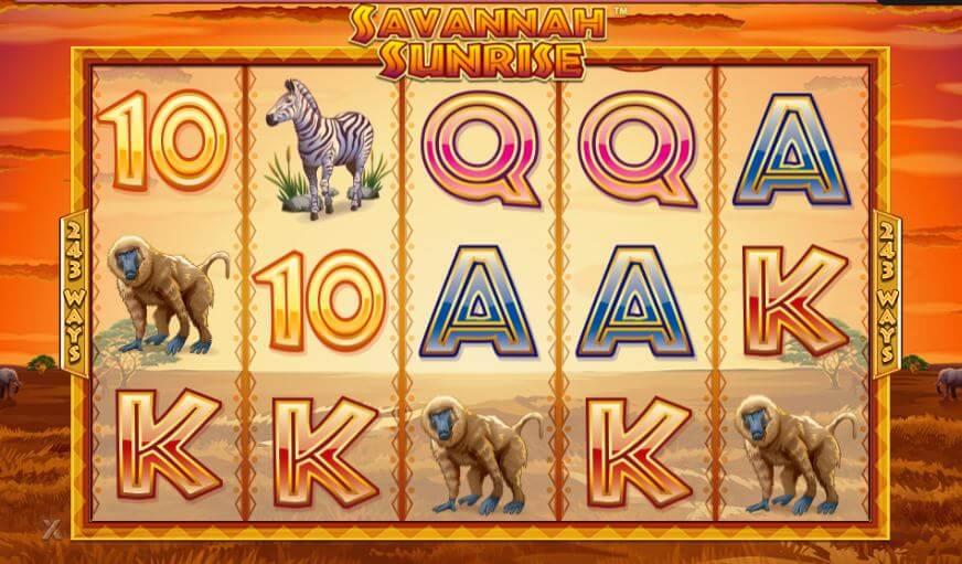 Spilleautomaten Savanna Sunrise giver en vild spilleoplevelse