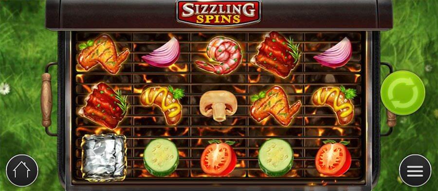Spilleautomaten sizzling spins byder på grillmad og vilde sølvpapirspakker